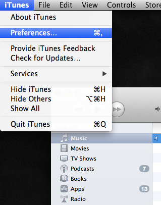 convert audio in itunes