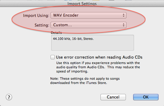 How to convert your audio files to the recommended format using